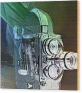Scarf Camera In Negative Wood Print