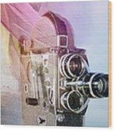 Scarf Camera Wood Print