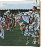 Scarf Fancy Dancer Wood Print by Scarlett Images Photography