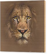 Scarface Lion Wood Print
