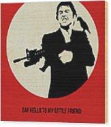 Scarface Poster Wood Print by Naxart Studio