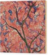 Scarlet Flowers Wood Print