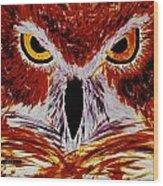 Scarlet Owl Wood Print