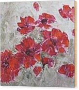 Scarlet Poppies Wood Print
