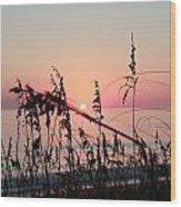 Scarlet Sunrise Wood Print