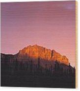 Scarlet Yamnuska And Bow River Wood Print