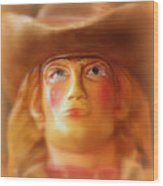Scary Cowgirl Wood Print