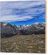 Scene From The Rocky Mountains National Park  Wood Print
