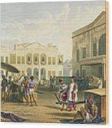 Scene In Bombay, From Volume I Wood Print