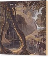 Scene In Sitsikamma - Elephants Wood Print