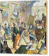Scene In The Louvre 1911 Wood Print