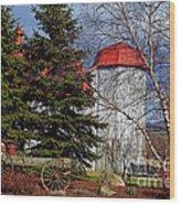 Scene In Vermont Wood Print