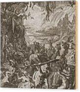 Scene Of Hell, 1731 Wood Print
