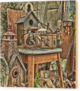 Scenes From An Outside Sale Wood Print