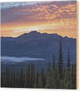 Scenes From Climbing  Mount Geraldine Wood Print