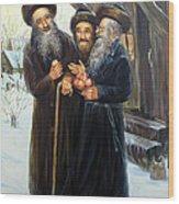 Scenes Of Jewish Life 4 Wood Print