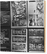 Scenes Of New York In Black And White Wood Print by Rob Hans