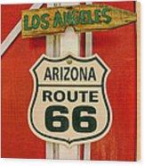 Scenes On Route 66 Wood Print