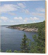 Scenic Acadia Park View Wood Print