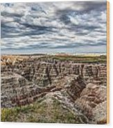 Scenic Badlands Wood Print