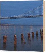 Scenic Bay Bridge Wood Print