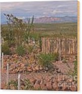 Scenic Boothill Cemetery In Tombstone Arizona Wood Print