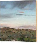 Scenic California Farmland Wood Print