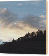 Scenic Evening Sky Wood Print