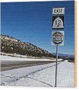 Scenic Highway 12 With Snow Utah Wood Print