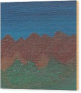 Scenic Mountains Wood Print