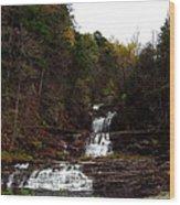 Scenic Kent Falls Wood Print by Stephen Melcher