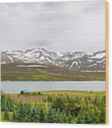 Scenic Landscape In Northern Iceland. Wood Print