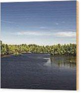 Scenic Maine Lake Wood Print
