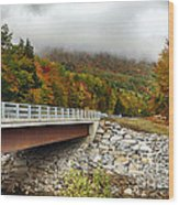 Scenic New Hampshire Drive Wood Print