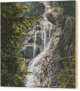 Scenic Of Shannon Fallsbritish Columbia Wood Print