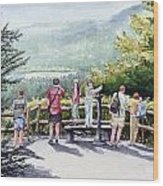 Scenic Overlook Wood Print by Sam Sidders