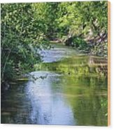 Scenic Sandusky River Wood Print