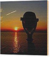 Scenic Sunset Wood Print by Stephen Melcher