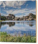 Scenic Sylvan Lake At Custer State Park Wood Print