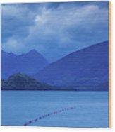 Scenic View Of A Lake At Dusk, Lake Wood Print
