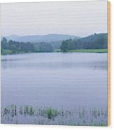 Scenic View Of A Lake, Bernheim Wood Print