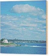 Scenic View Of Atlantic Ocean Wood Print
