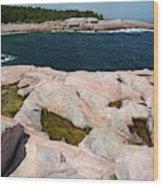 Scenic View Of Exposed Bedrock Wood Print