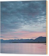 Scenic View Of Lake At Dusk, Lake Wood Print