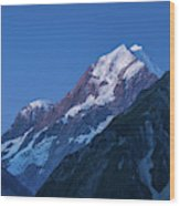 Scenic View Of Mountain At Dusk Wood Print