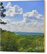 Scenic View Of So Mo Ozarks - Digital Paint Wood Print