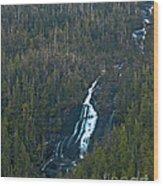 Scenic Waterfall Wood Print