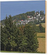 Schauenstein - A Typical Upper-franconian Town Wood Print