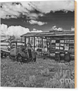 Schellbourne Station And Old Truck Wood Print by Robert Bales