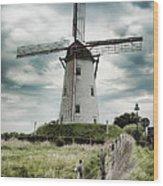 Schellemolen Windmill Wood Print